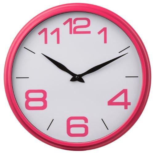 Premier Housewares Hot Pink Kitchen Wall Clock