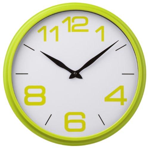 Premier Housewares Lime Green Kitchen Wall Clock