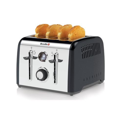 Breville Aurora 4 Slice Toaster - Black