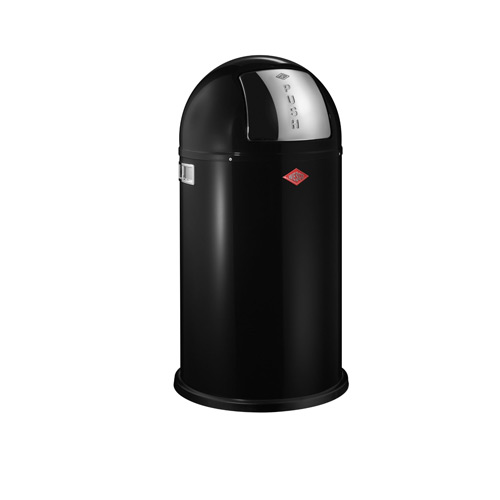 Wesco Pushboy 50 Litre Bin - Black