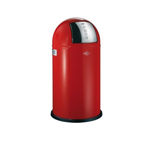 Wesco Pushboy 50 Litre Bin - Red