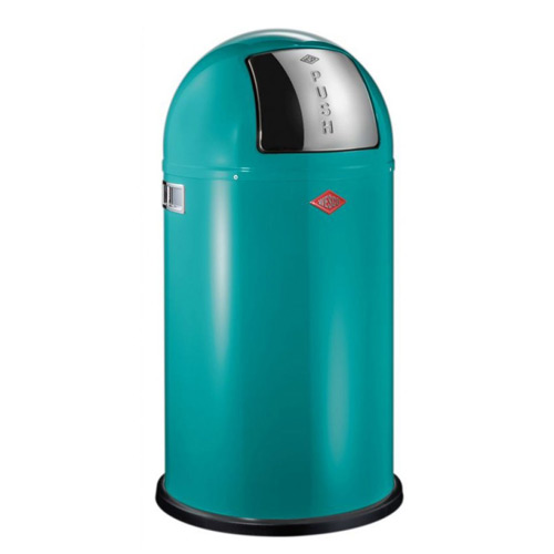 Wesco Pushboy 50 Litre Bin - Turquoise