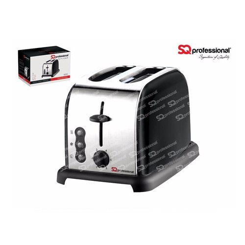 SQ Professional Legacy 900W 2 Slice Toaster, Black
