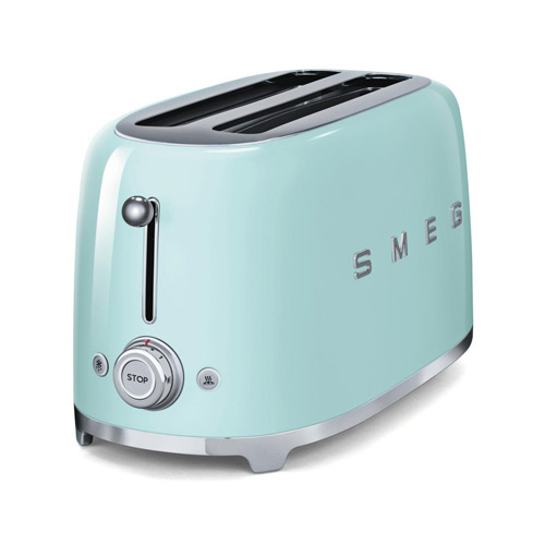 Smeg TSF02PGUK | 50's Retro Style 4 Slice Toaster in Pastel Green