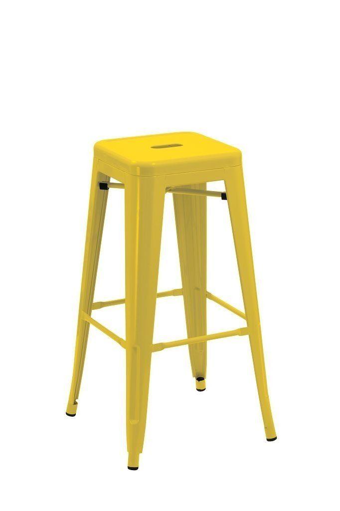 Yellow Metal Bar Stool