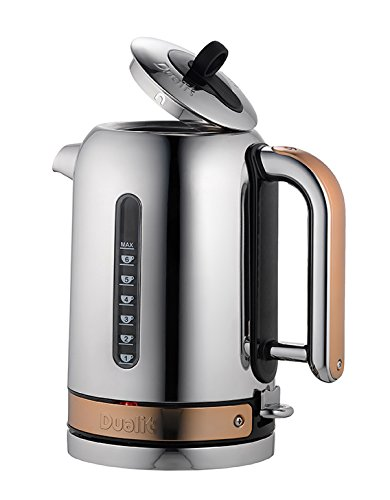Dualit Classic Kettle, Chome with Copper Trim