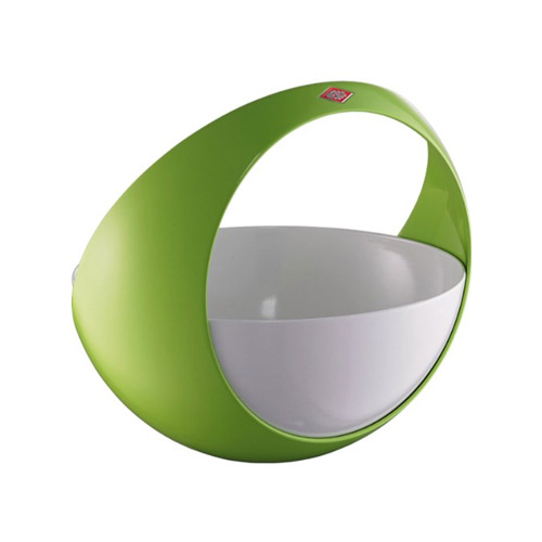 Wesco Spacy Curved Fruit Basket white and green